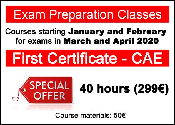 cursos de preparación para exámenes de Cambridge