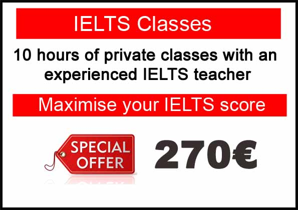 IELTS exam preparation poster