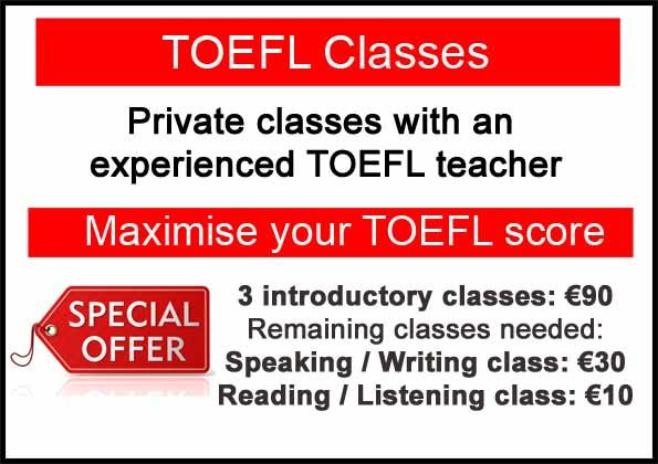 Preparación para el TOEFL poster