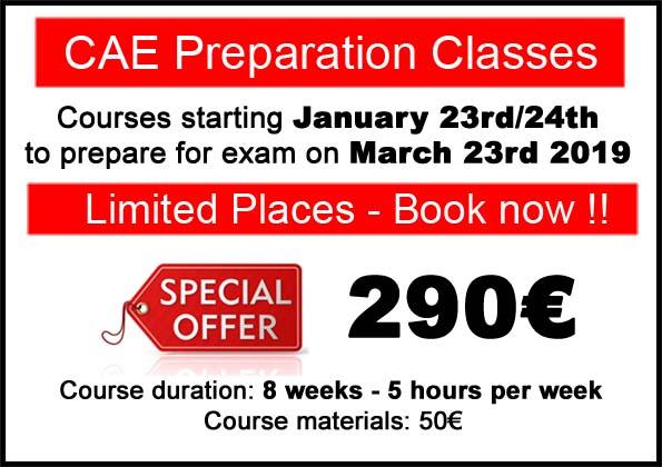 curso de preparación Cambridge Advanced CAE