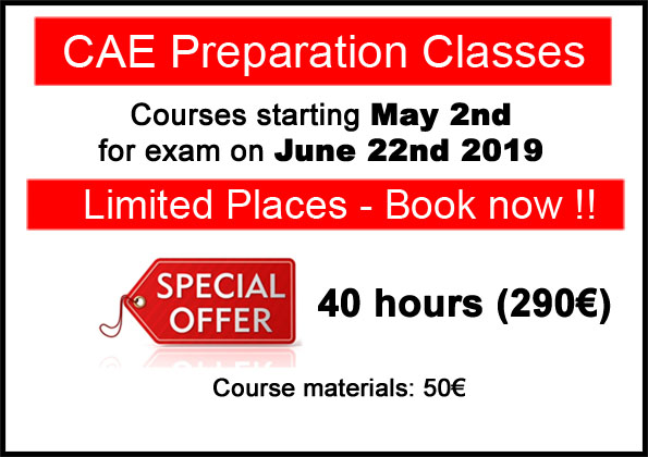 curso de preparación Cambridge Advanced CAE