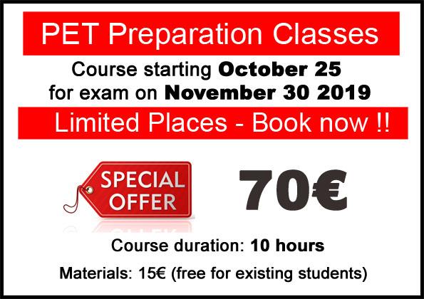 Cursos para preparación examen pet b1 inglés