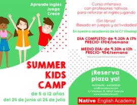 Curso intensivo de verano para niños