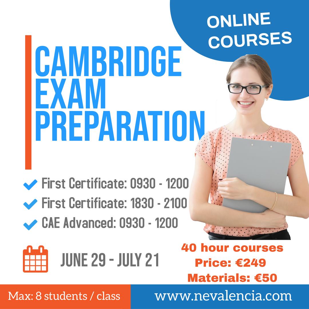 summer 2020 exam classes