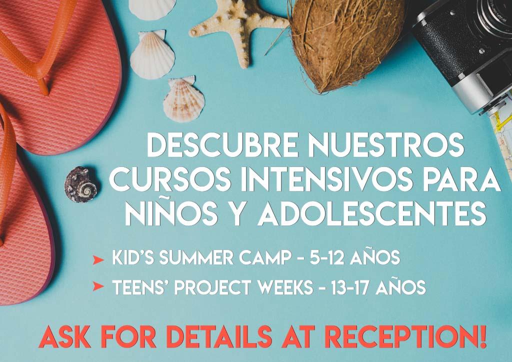 curso intensivo de verano para niños y jóvenes