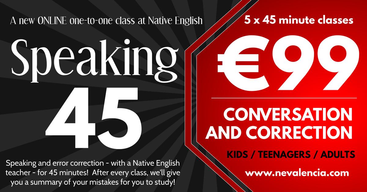 Speaking 45 conversation online